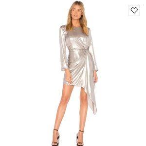 BARDOT silver dress